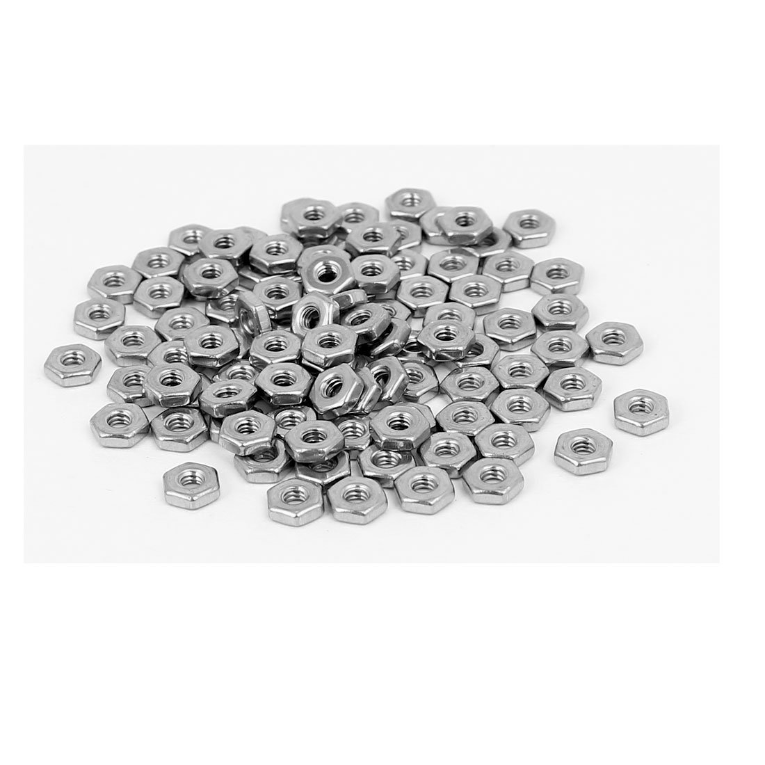 uxcell 7//8 Inch Thread Dia 304 Stainless Steel Finished Metric Hex Nut Silver Tone 4pcs a16081700ux0507