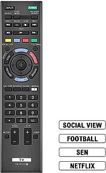 Gvirtue RM-YD103 - Mando a distancia de repuesto para televisor Bravia Sony HDTV LCD LED 3D Smart TV: Amazon.es: Electrónica