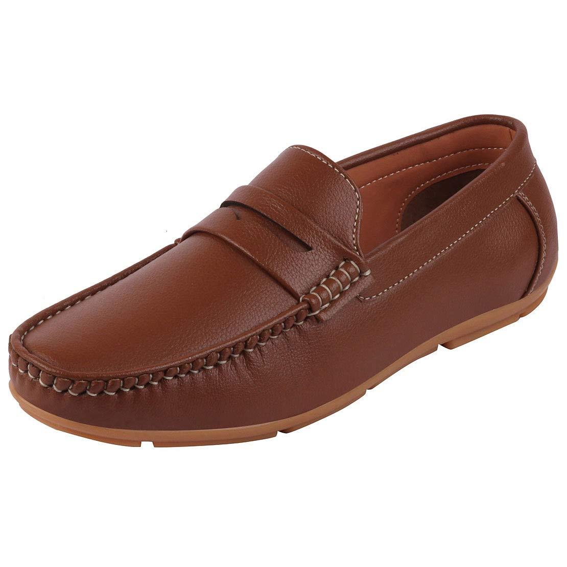 Buy Lakhani Men's Tan Loafers Jump 03