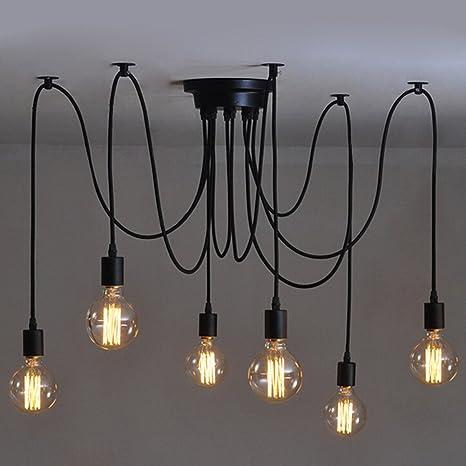 Lámpara Creativa de Edison Lámpara Antigua de DIY 6 Lámparas ...