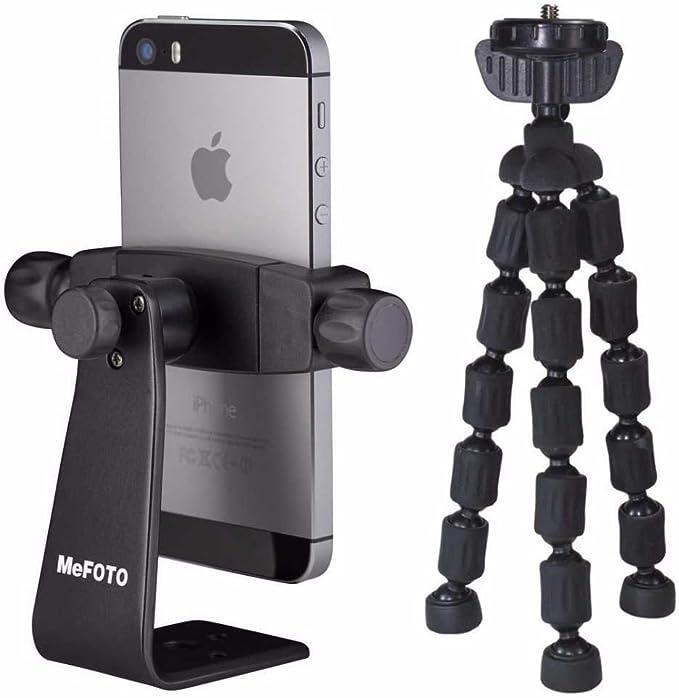 MeFOTO Sidekick 360 Smartphone trípode adaptador (negro) con Mini ...
