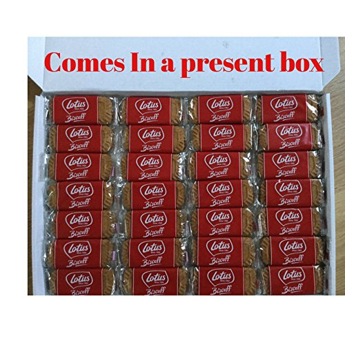 48 Lotus biscoff Biscuits 24 x 2 Packs in a Great Present Box Ideal Birthday Present