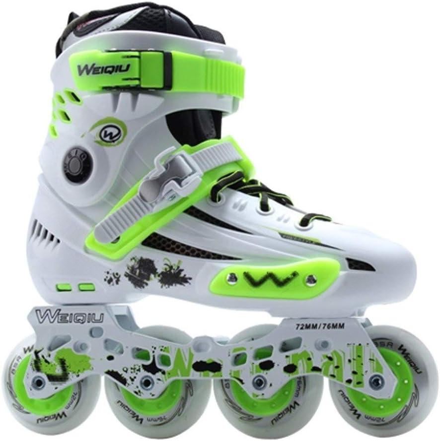 プロの豪華なローラースケート、快適で 単一行ローラースケートローラースケート、35-44ヤード、2色 (Color : B, Size : EU 35) B EU 35