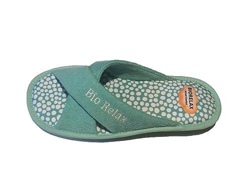 Zapatillas de Estar por casa/Mujer/Biorelax/Rizo: Amazon.es: Zapatos y complementos
