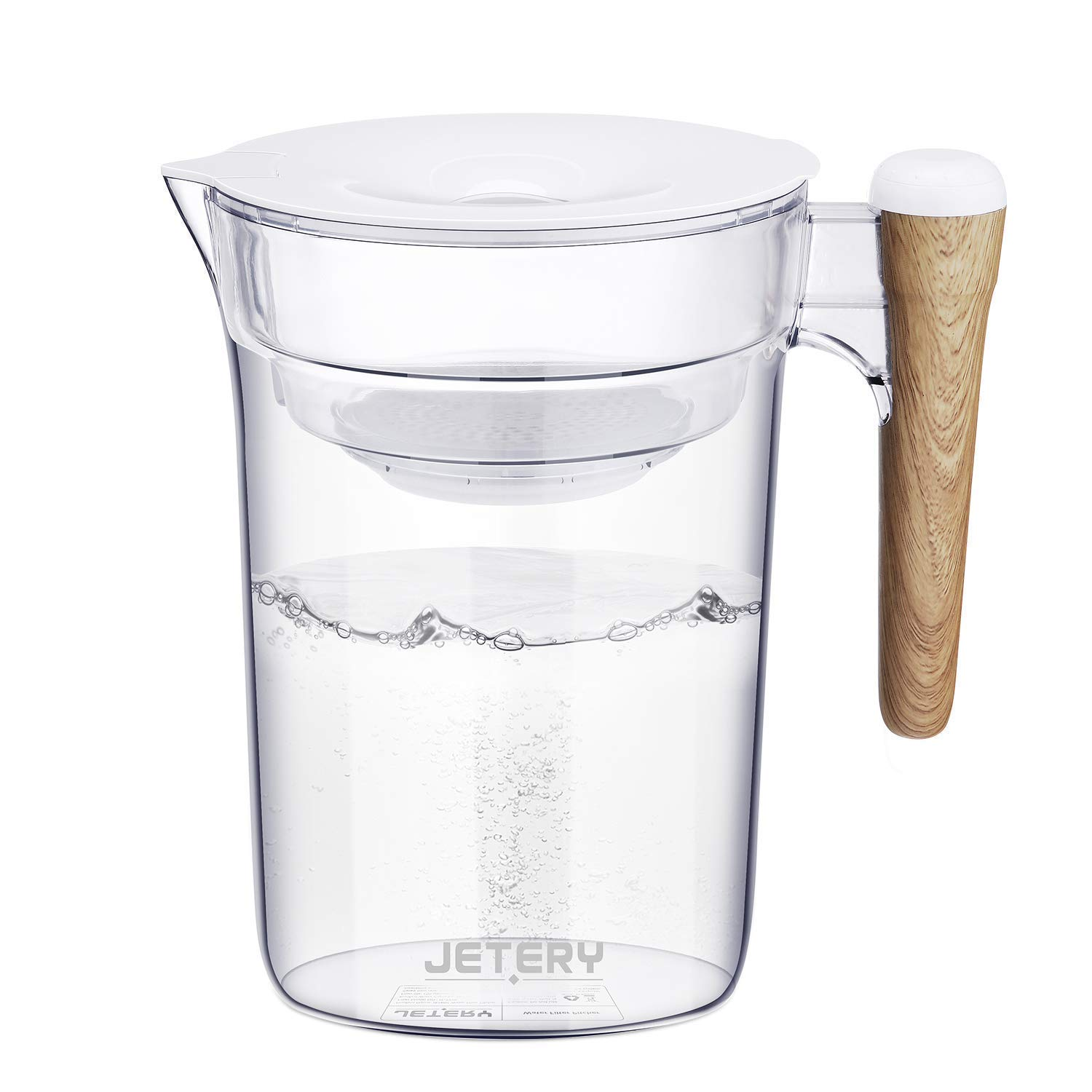 JETERY Water Filter Pitcher 10 Cup Long-Lasting Purifier
