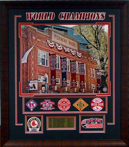 Baseball Boston Red Sox - Fenway Park Façade with World Series Patches Framed Picture SKU #2026 ()