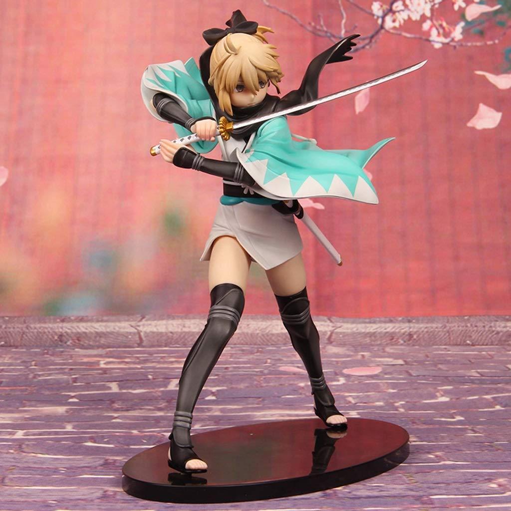 FKYGDQ Personaggio Gioco Anime Destino Notte SEBA Modello Statua Ornamento Altezza 24 cm Statua del Giocattolo