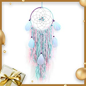 4inLoveMe Pure Handmade Lace Tassels Dream Catcher Beautiful Native American Dream Catchers Authentic Pretty Dreamcatchers for Home Wall Hanging Decoration Wedding Decoration Craft