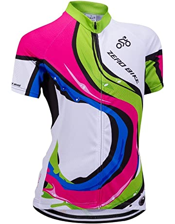 1075569a0 ZEROBIKE Women s Short Sleeve Cycling Jersey Jacket Cycling Shirt Quick Dry  Breathable Mountain Clothing Bike Top