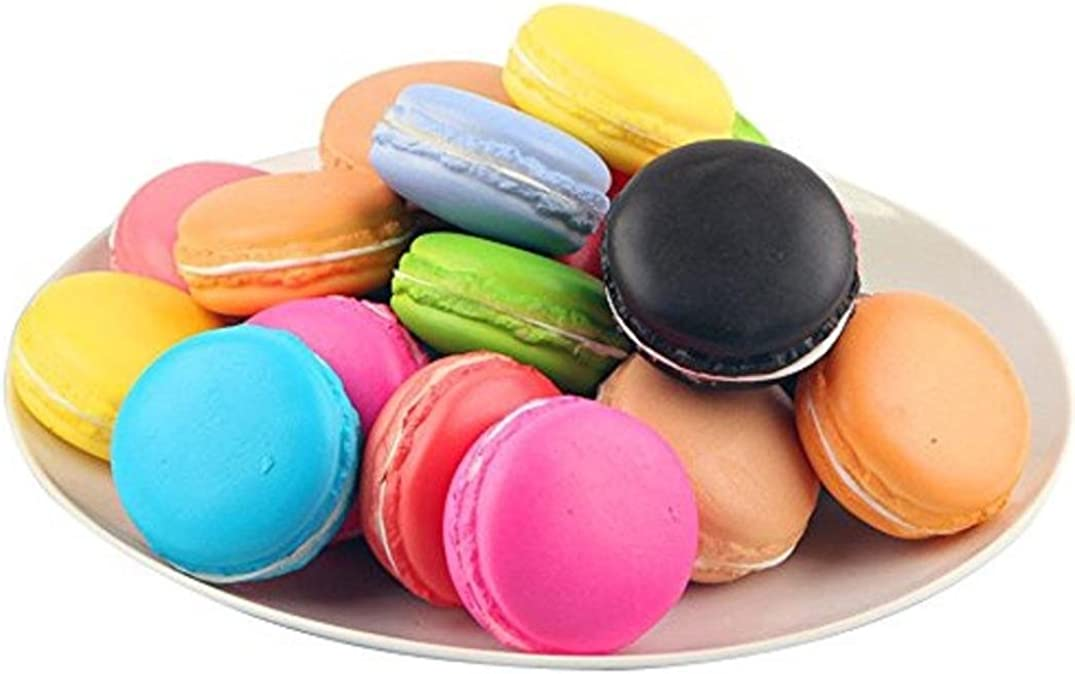 Sonnena Juguetes compresivos, Squishies Kawaii Juguetes Lindo Macaron Squishy Squeeze Toy Slow Rising Decompression Toys Stress Relief Juguete Suave Squeeze Toys (5 * 5 * 3cm, A)