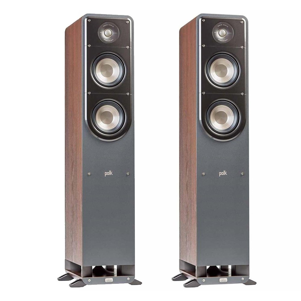Polk Signature S50 American HiFi Home Theater Tower Speaker in Walnut (Pair) by Polk