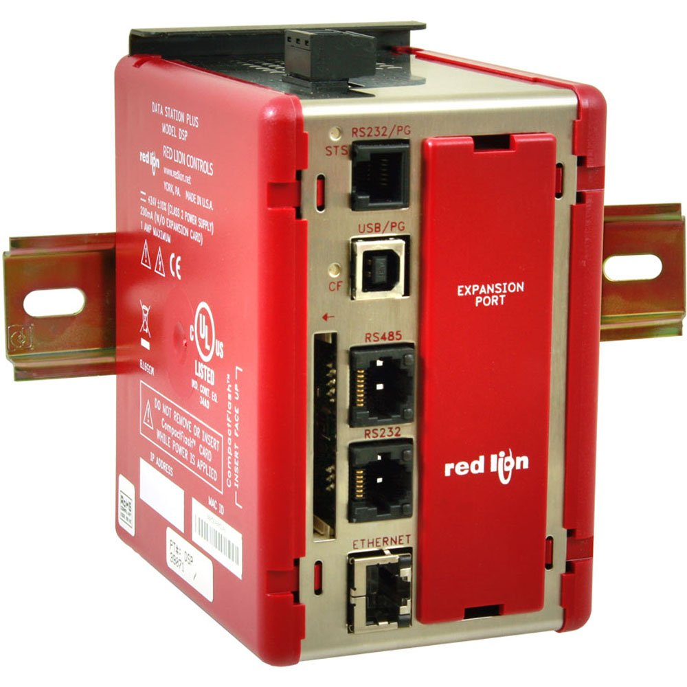 Red Lion DSPLE Data Station Plus with Multiple Protocol Converter, 3 Serial Ports, 1 Ethernet Port, and Expansion Slot