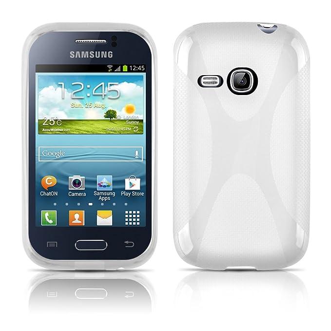 Cadorabo - Carcasa de silicona para Samsung Galaxy YOUNG DUOS (magnesio), color blanco: Amazon.es: Electrónica