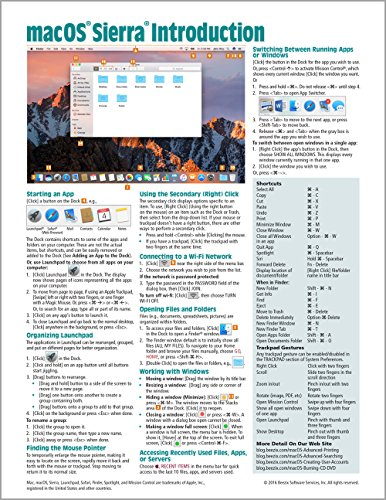 macOS Sierra Introduction Quick Reference Guide (Cheat Sheet of Instructions, Tips & Shortcuts...