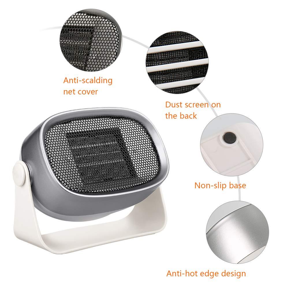 Estufa Eléctrica Calefactor Mini Portátil Handy Heater Bajo Consumo Temperatura Regulable Baño Casa Oficina Enchufe UE (500w): Amazon.es: Bricolaje y ...