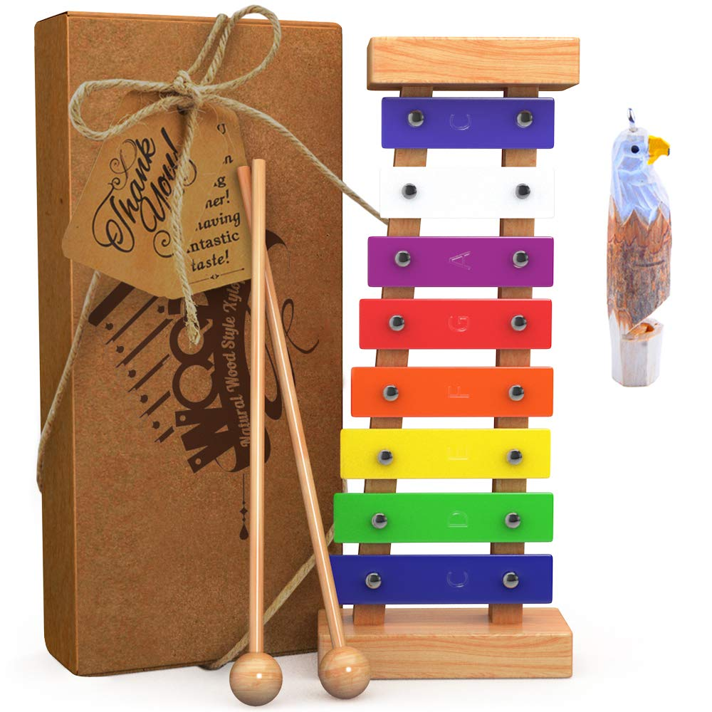 aGreatLife Wooden Xylophone for Kids Includes Eagle Whistle by aGreatLife