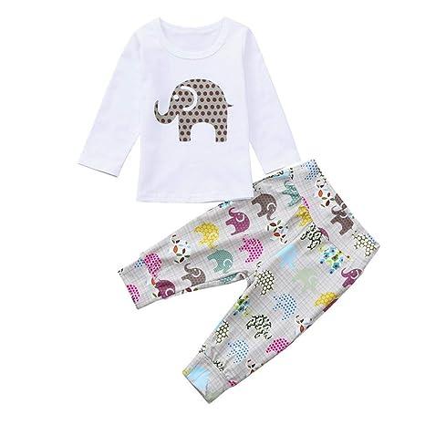 Amazon.com: Juego de ropa para bebés y niñas con estampado ...