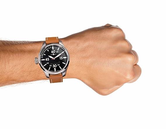 Aviator Pilot montre en acier Marron Bande de cuir pour homme armée  italienne, Chotovelli 5250-1  Chotovelli Ilan  Amazon.fr  Montres aaee4475c57