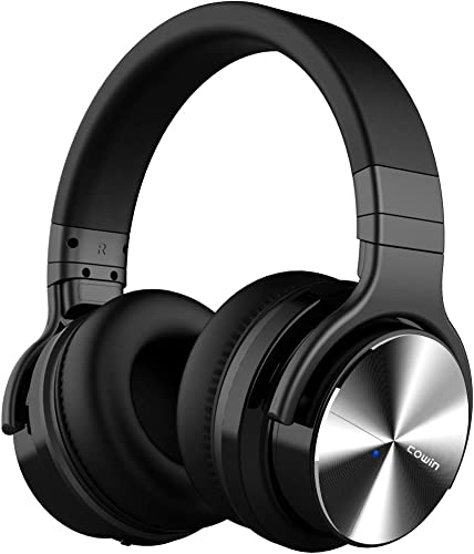 COWIN E7 PRO Active Noise Cancelling Bluetooth Headphones Wireless Headphones Over Ear Deep Bass 30H Playtime for Travel Work TV Computer Cellphone, Black