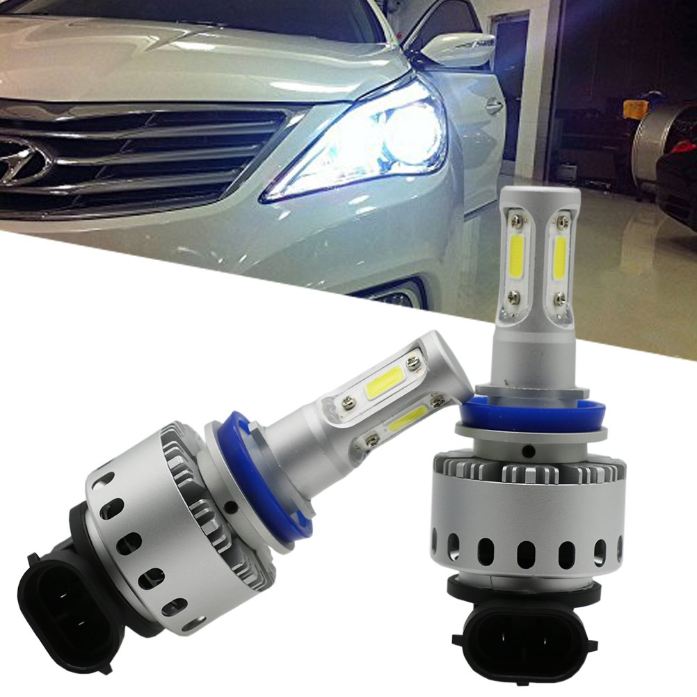 Ralbay 1 Pair 160W 12000LM 6500K White COB Chips New LED Headlight Day Light Fog Lamp 9006 HB4 High-Low Beam