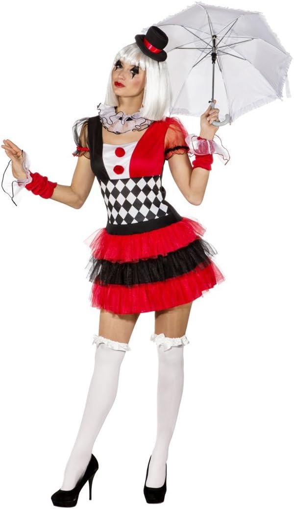 Vestido Arlequín - ES 44/46 (M/L) | Disfraz Mujer Pierrot ...