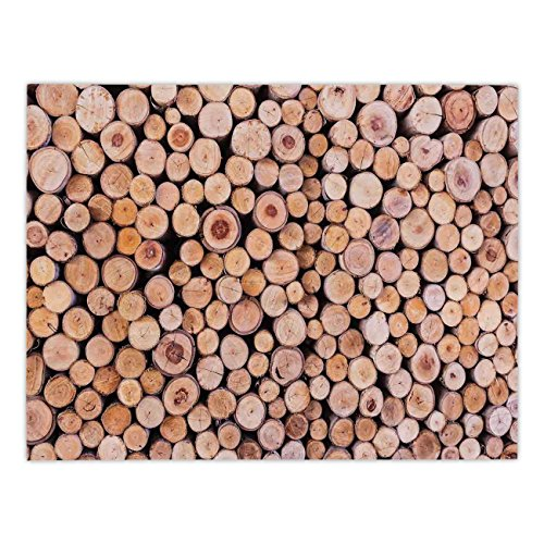 - Polyester Rectangular Tablecloth,Rustic Home Decor,Mass of Wood Log Forest Tree Industry Group of Cut Lumber Circle Stack Image,Cream,Dining Room Kitchen Picnic Table Cloth Cover,for Outdoor Indoor