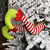 WEWILL 20'' Elf Legs for Christmas Decorations