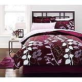 Purple Lavender Adult Queen Comforter 8 Piece Bed In A Bag