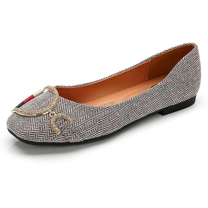 RegbKing Zapatos De Los Planos Rhinestone Decoración Mocasines Bombas Zapatos Zapatos De Barco Mocasín Zapatos De Vestir De Dama De Honor Zapatos De Moda ...