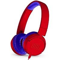 JBL JR300 - Fone de ouvido on-ear projetado para crianças, vermelho