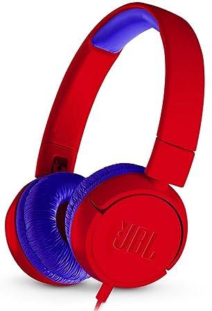 JBL JR300 - Auriculares supraaurales para niños, Color Rojo