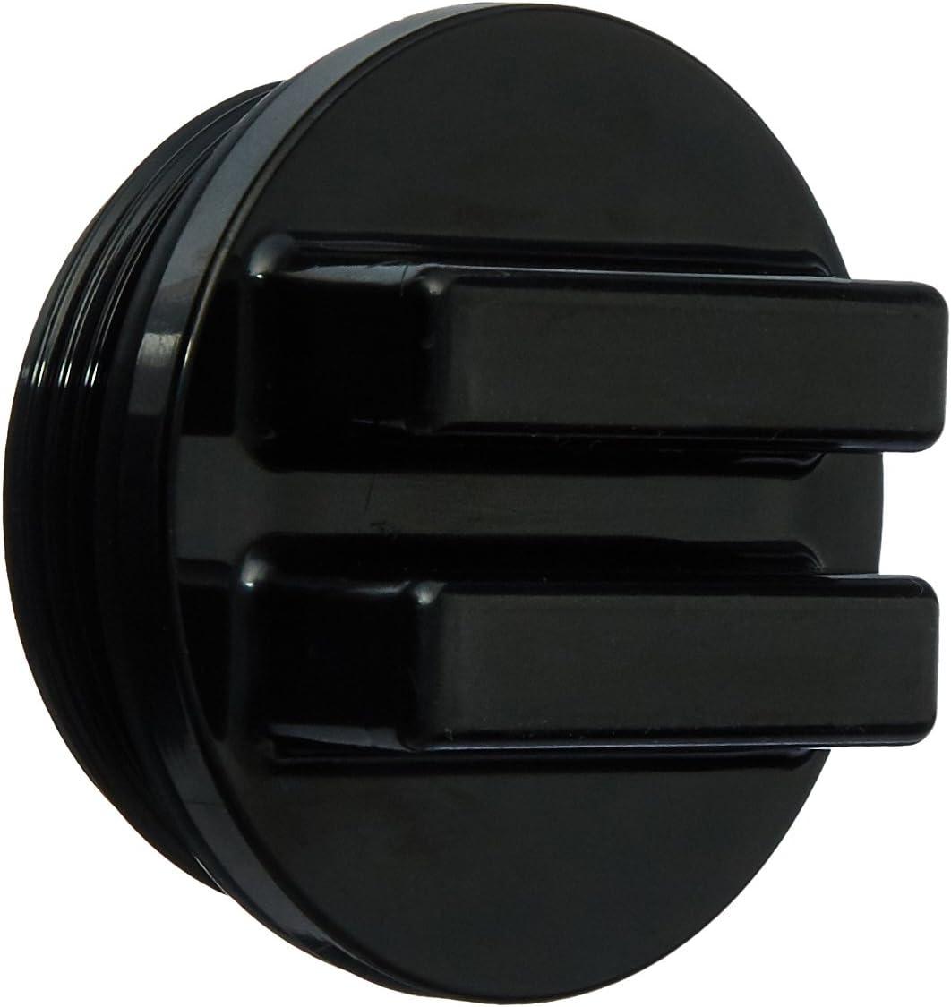 Hayward SP1022CBLK 1-1/2-Inch MIP Black Concrete Pool Drain Plug with O-Ring