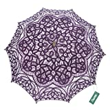TopTie Lace Umbrella Wedding Parasol Bridal Shower Decoration Photograph Costume-Purple2