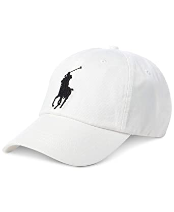 ab694cebaa693 Polo Ralph Lauren Men Big Pony Logo Hat Cap One Size White at Amazon ...