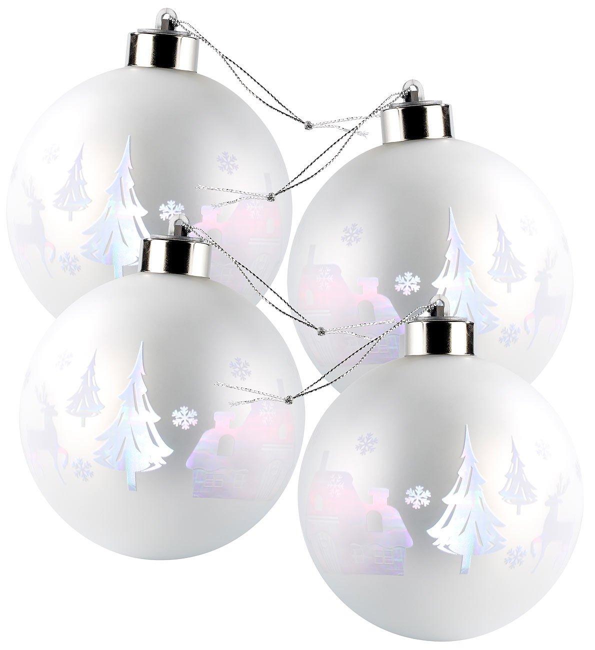 Led Weihnachtskugeln.Lunartec Led Weihnachtskugel Christbaumkugeln Mit Farbwechsel Leds