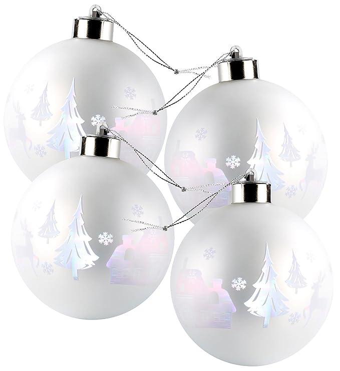 Lunartec LED Weihnachtskugeln: Christbaumkugeln mit Farbwechsel-LEDs ...
