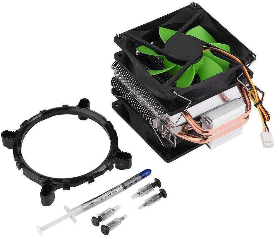 VIFER Ventilador de enfriamiento 3Pin Ventilador de Doble Cara Enfriador de CPU Disipador térmico silencioso para LGA775/1156/1155 AMD AM2/AM2 +/AM3, 90 mm