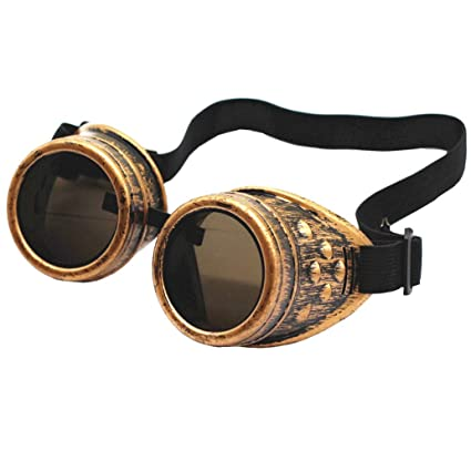 267098ddc9 Amazon.com  New Sell Vintage Steampunk Goggles Glasses Welding Cyber Punk  Gothic  Health   Personal Care