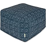 Majestic Home Goods Navajo Ottoman, Large, Navy