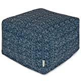 Cheap Majestic Home Goods Navajo Ottoman, Large, Navy
