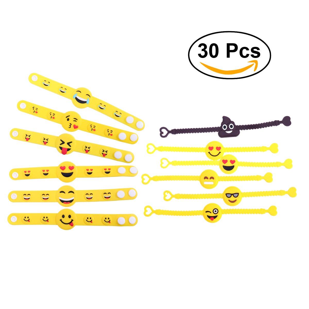 Pulsera de goma BESTOMZ Artículos de Fiesta Juguetes de Novedad para niños 30 piezas