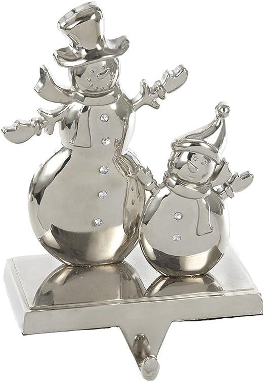 Kurt Adler 7-Inch Silver 3-D Snowflake Stocking Holder