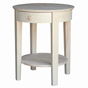 International Concepts OT-2128 Accent Table, Unfinished