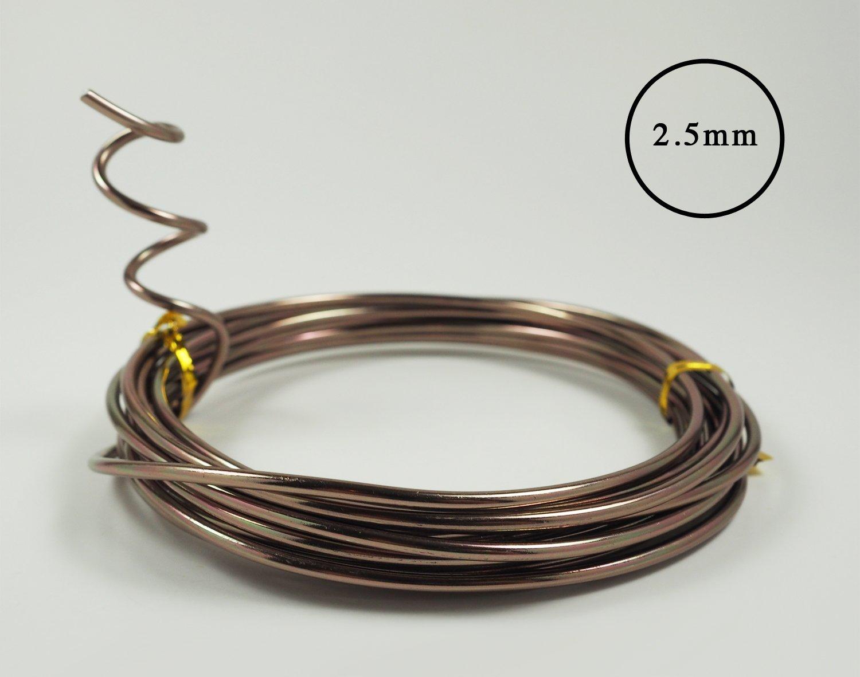 Amazon.com: Anodized Aluminum Bonsai Training Wire 5-Size Starter ...