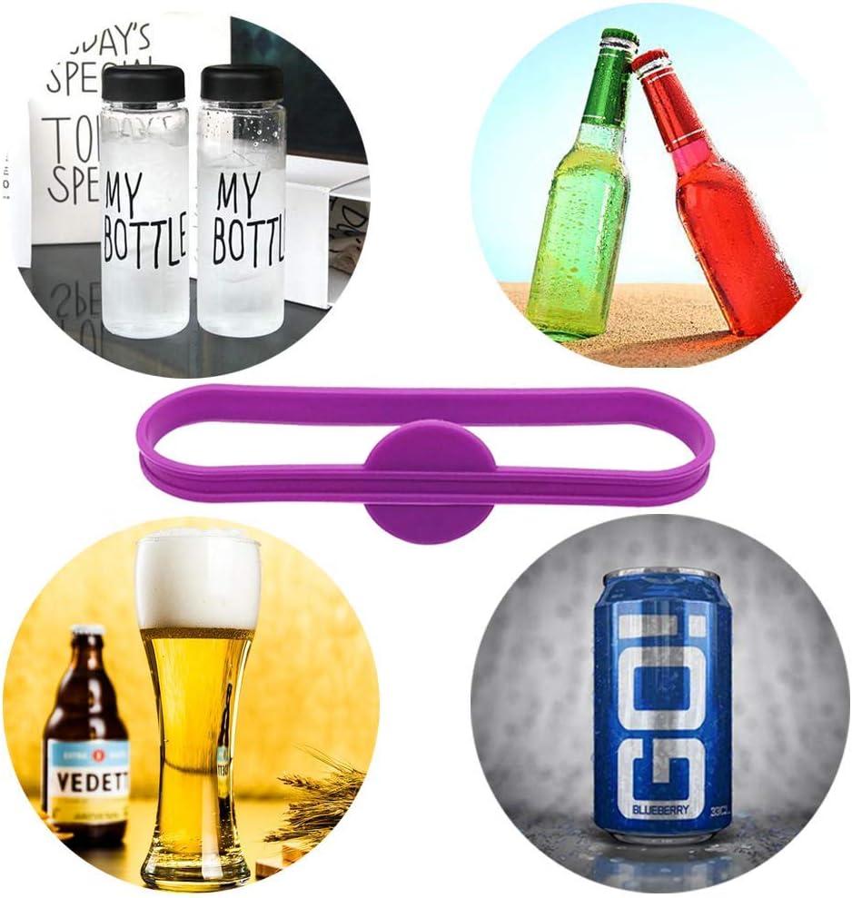 BOSSTER Trinken Marker 12 st/ück Glasmarkierer Silikon Bunte Bierglas Tasse Vino Wein Cocktail Glasflaschenstreifen Tag Marker f/ür Party L/ösung