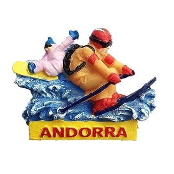 Andorra resina 3d fuerte imán para nevera recuerdo turista regalo chino imán hecho a mano creativo hogar y cocina decoración magnética: Amazon.es: Hogar