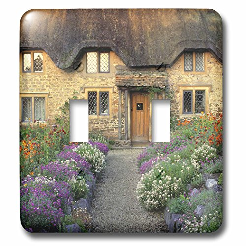 - 3dRose lsp_82787_2 England, Chippenham, Cotswold Stones Of Home Eu33 Rer0123 Ric Ergenbright Double Toggle Switch