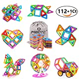 MIBOTE 112pcs Magnetic Building Blocks Educational Magnet Tiles Set Ferris Wheel Blocks Toys for Toddler Kids - All of Them are Magnet, NO Cards