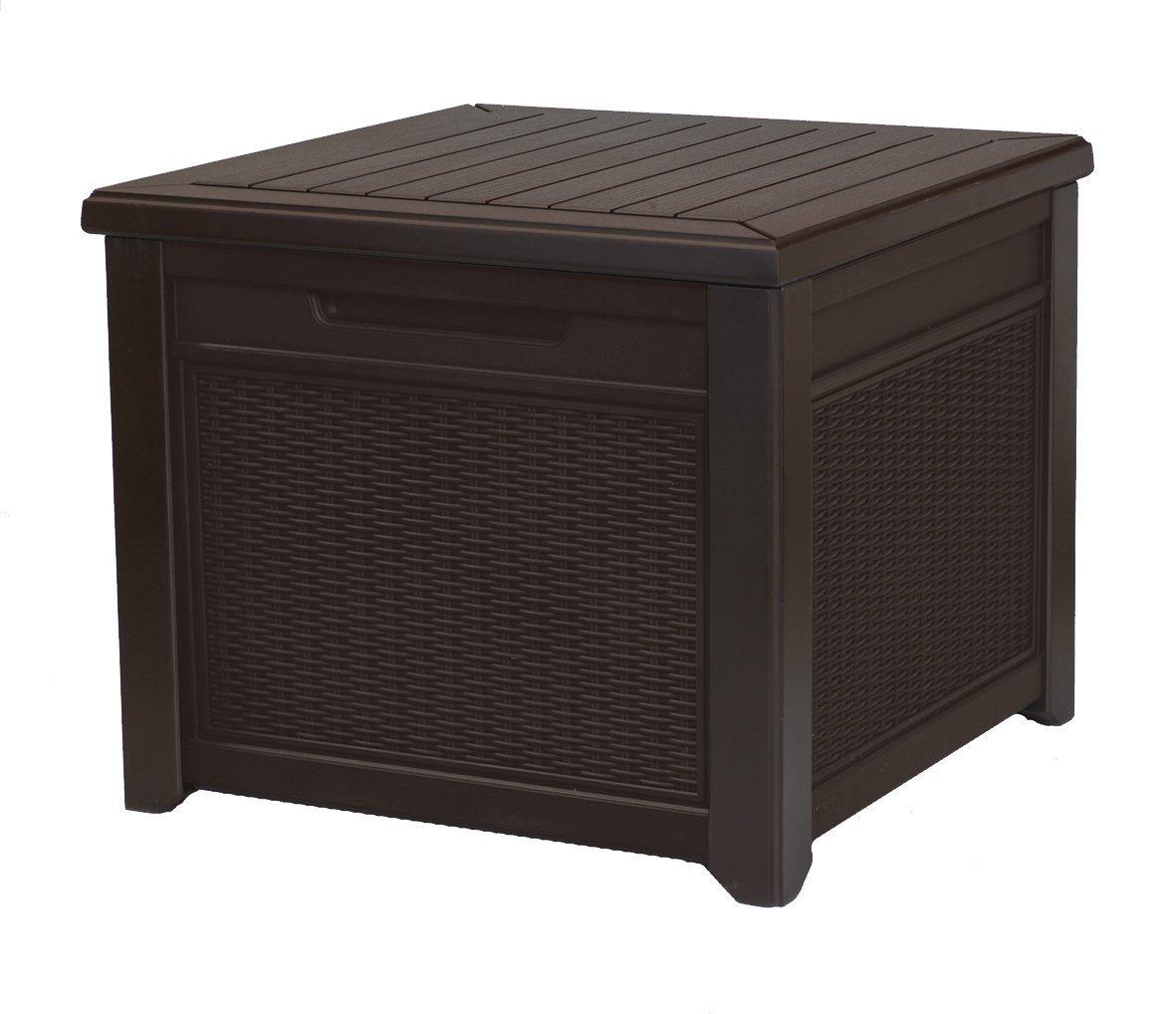 Cubo de almacenamiento Keter 55-gallon para todo tipo de clima al aire libre cubierta caja