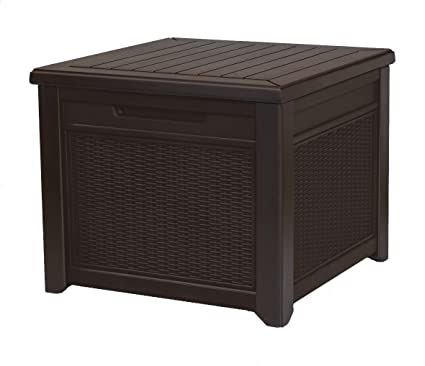 Keter Rattan Style 3 Drawer Cart.Amazon Com Keter 233705 55 Gallon Outdoor Rattan Style Storage